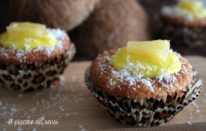 Muffins al cocco e ananas