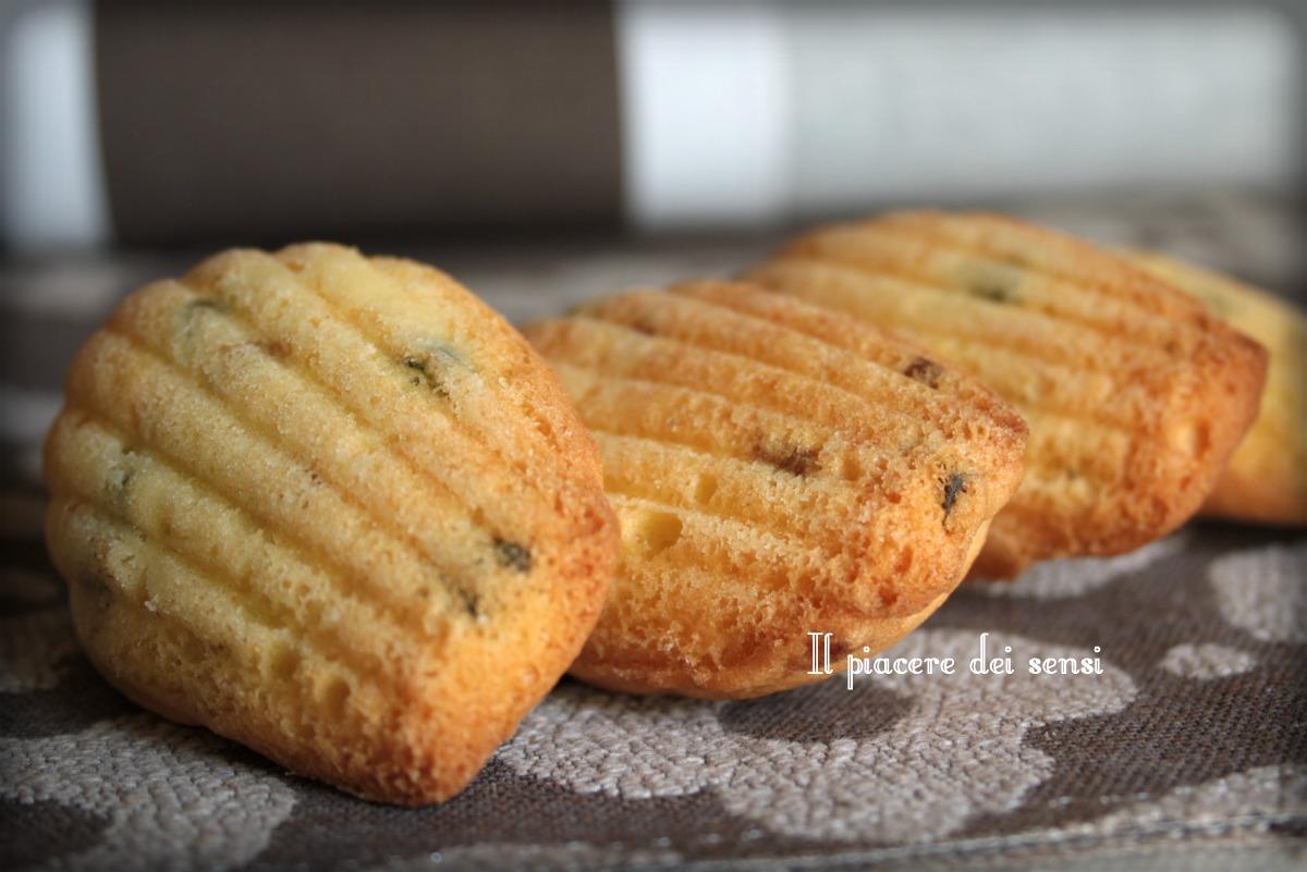 madeleines con canditi