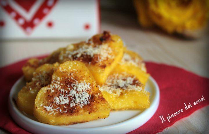 Cuori di polenta alla paprica