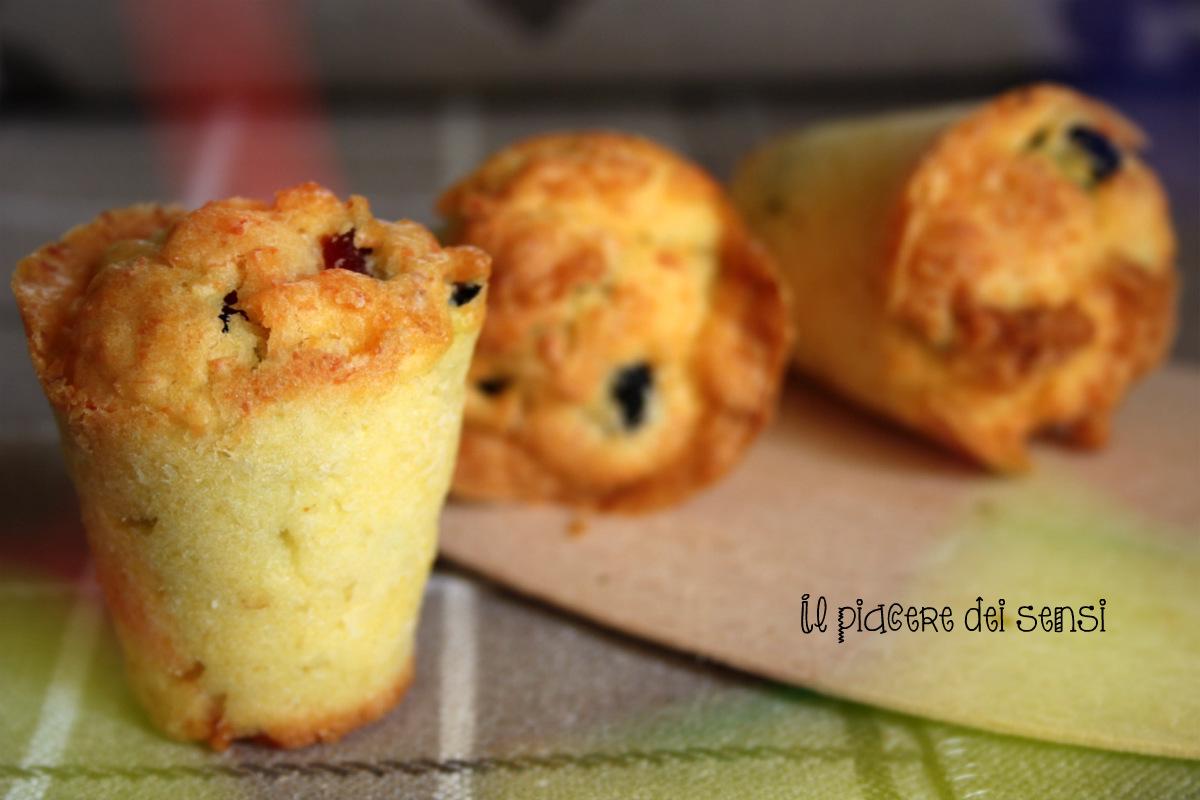 muffins con ricotta salata