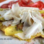 Frittata con carciofi e pomodorini
