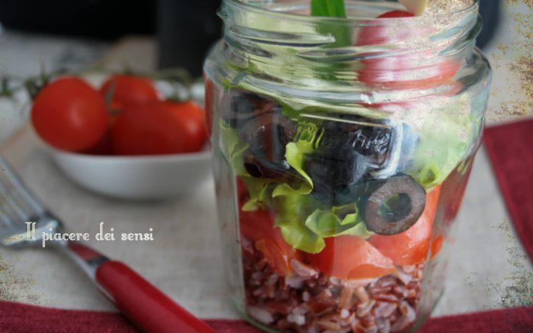 Insalata di riso rosso integrale in vasetto