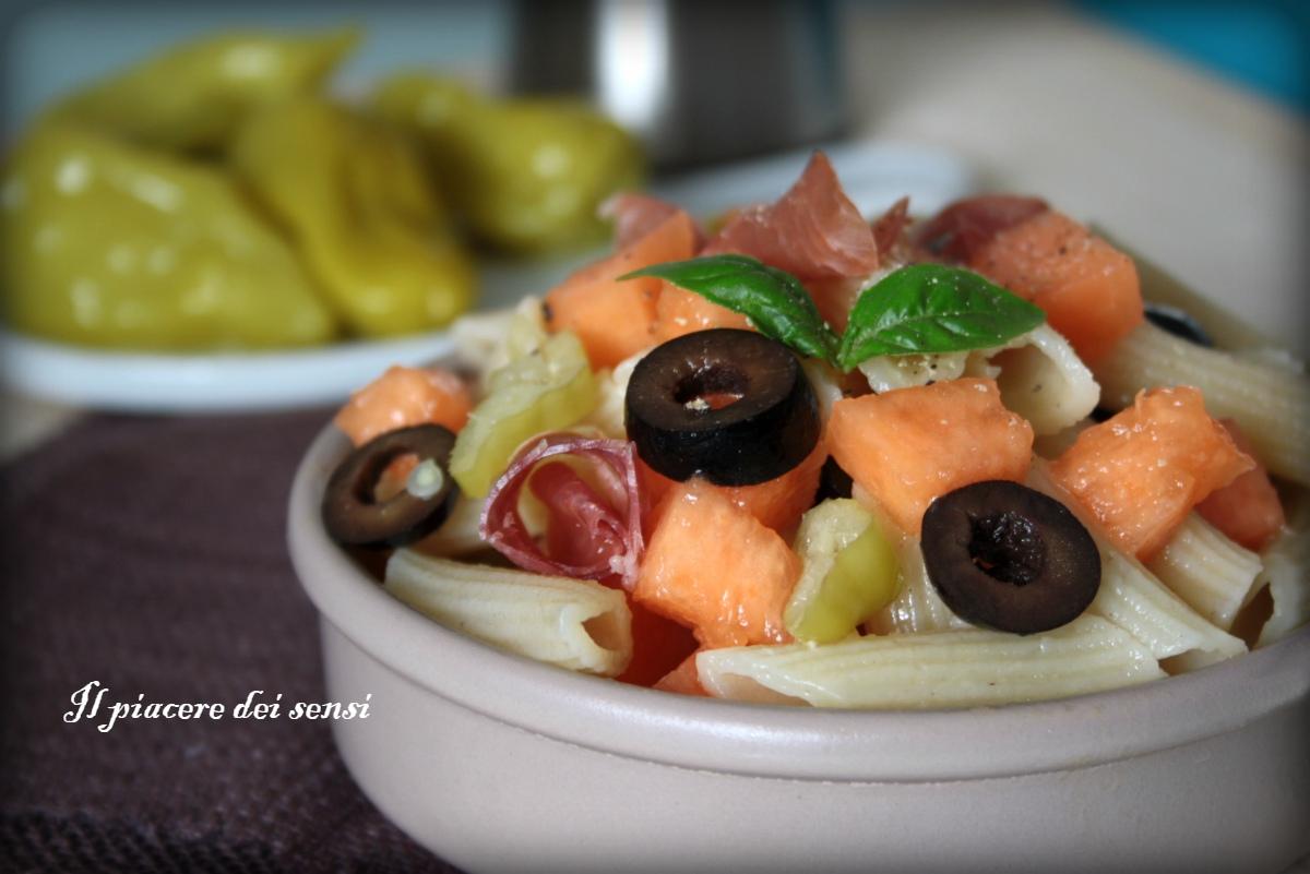 pasta fredda con melone