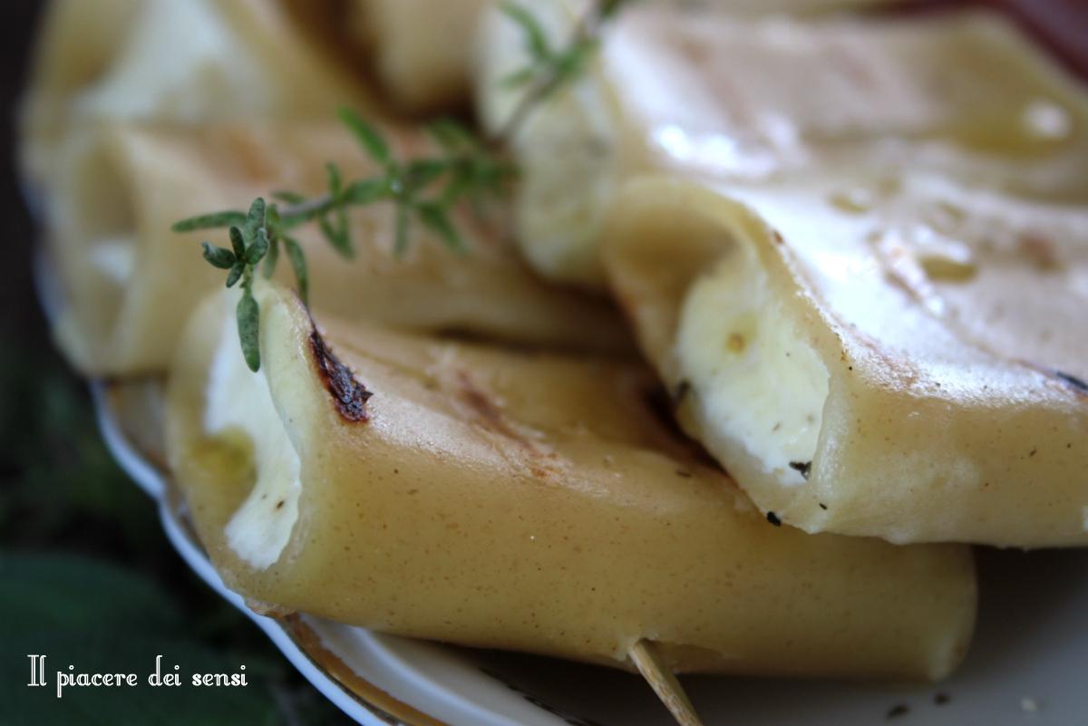 Paccheri grigliati con ricotta ed erbe aromatiche | Il piacere dei sensi