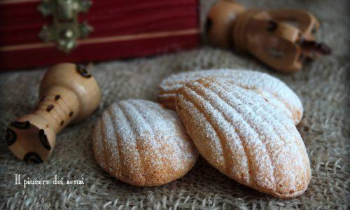 Madeleines senza burro con farina di mais