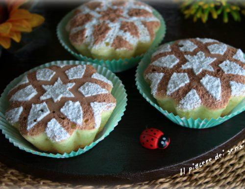 Muffins con albumi all'arancia cotti in pentola