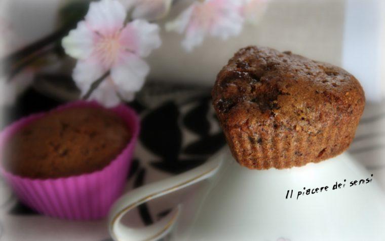 Muffins di grano saraceno con albicocche secche