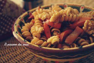 pasta al farro con peperoni