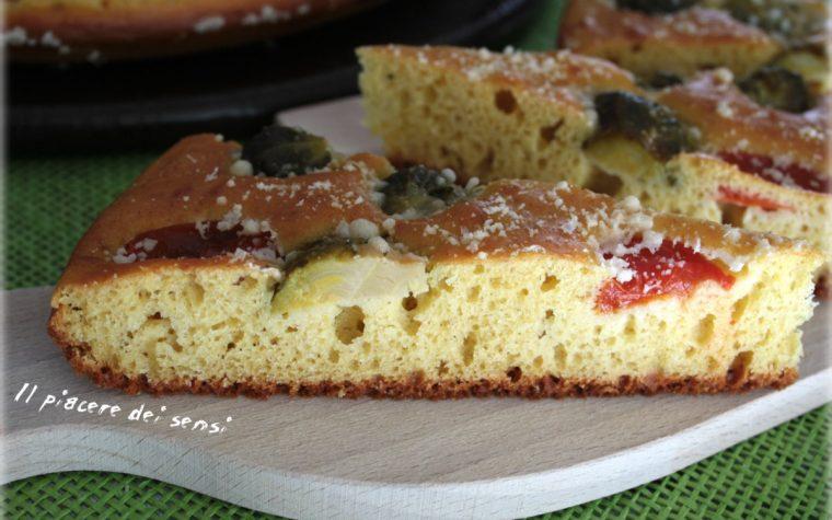 Torta salata con cavoletti e pomodorini cotta in pentola