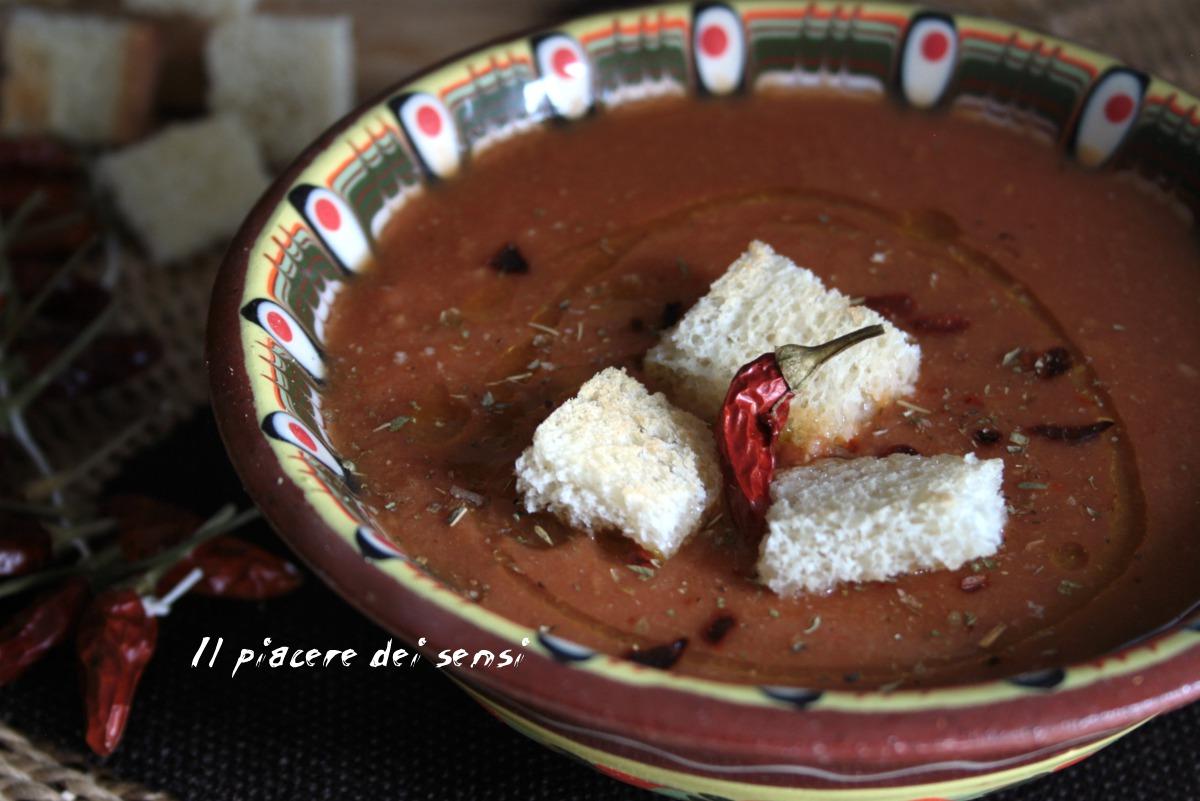 crema di lenticchie rosse al pomodoro