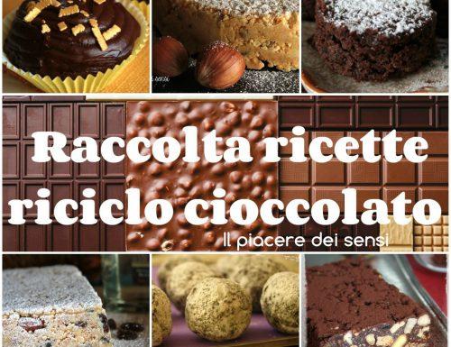 Raccolta ricette riciclo cioccolato
