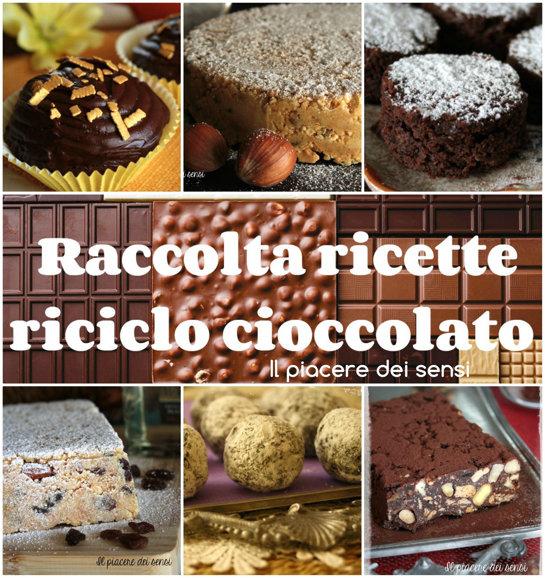 accolta ricette riciclo cioccolato