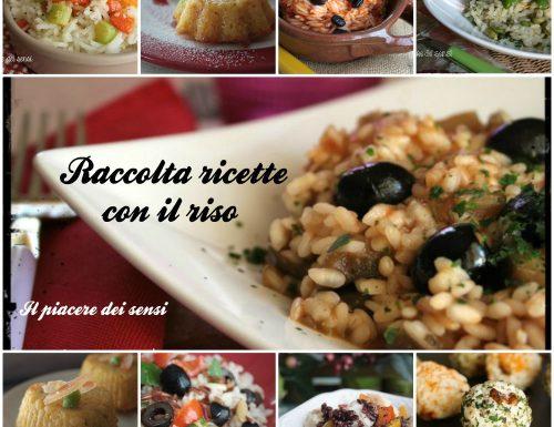 Raccolta ricette con il riso