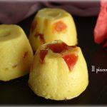 Dessert ricotta e limone con frutta candita