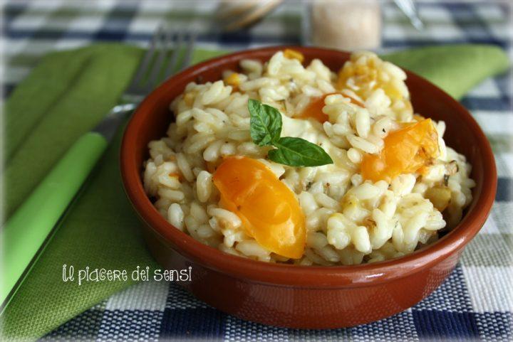 risotto con pomodorini gialli