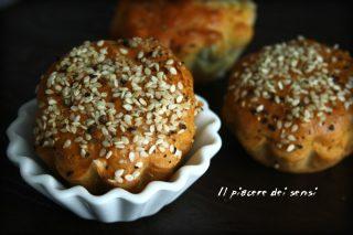 muffins con provola e pancetta