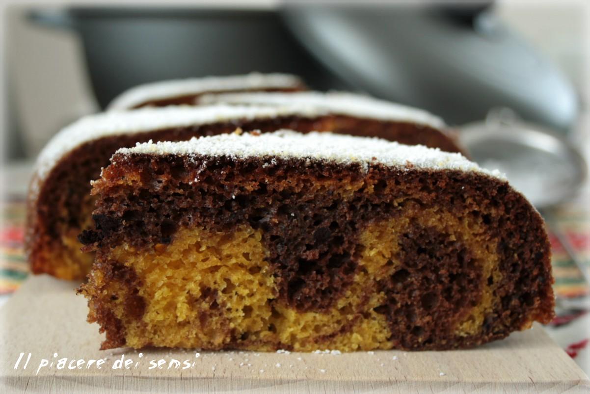 torta al cacao variegata