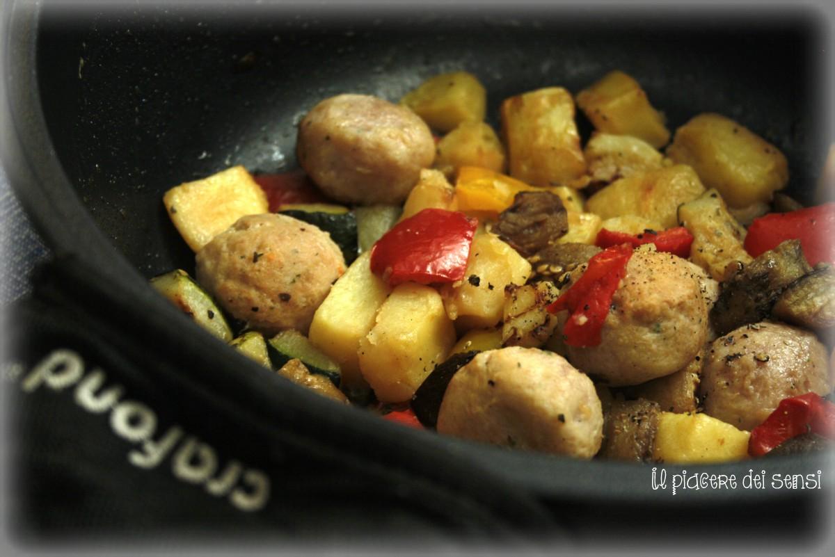 cous cous con polpettine e verdure