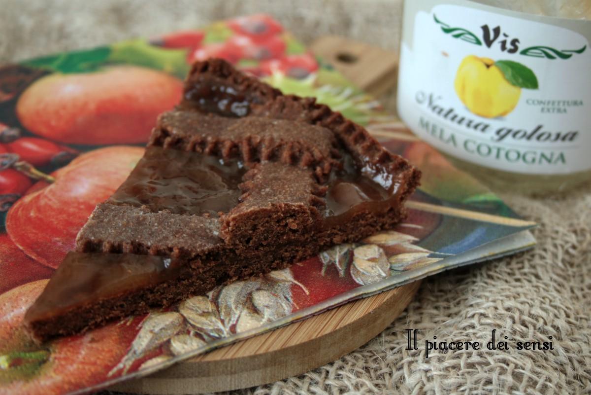 crostata al cacao e grano saraceno vis