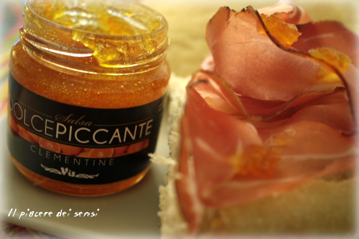 ocaccia con speck e salsa piccante di clementine vis