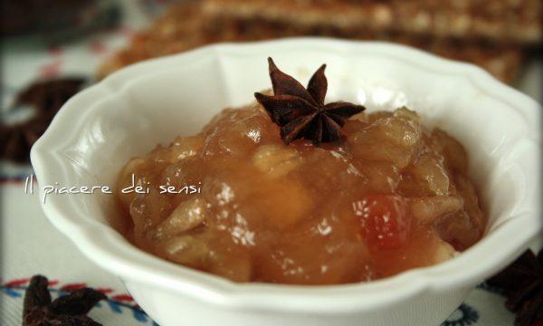 Confettura di mele con anice stellato e papaya