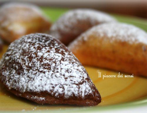 Ravioli fritti con ricotta e gocce di cioccolato