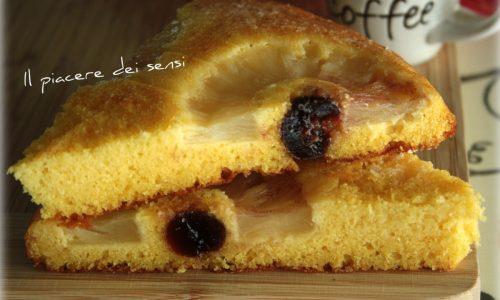 Torta rovesciata con ananas senza burro nè zucchero