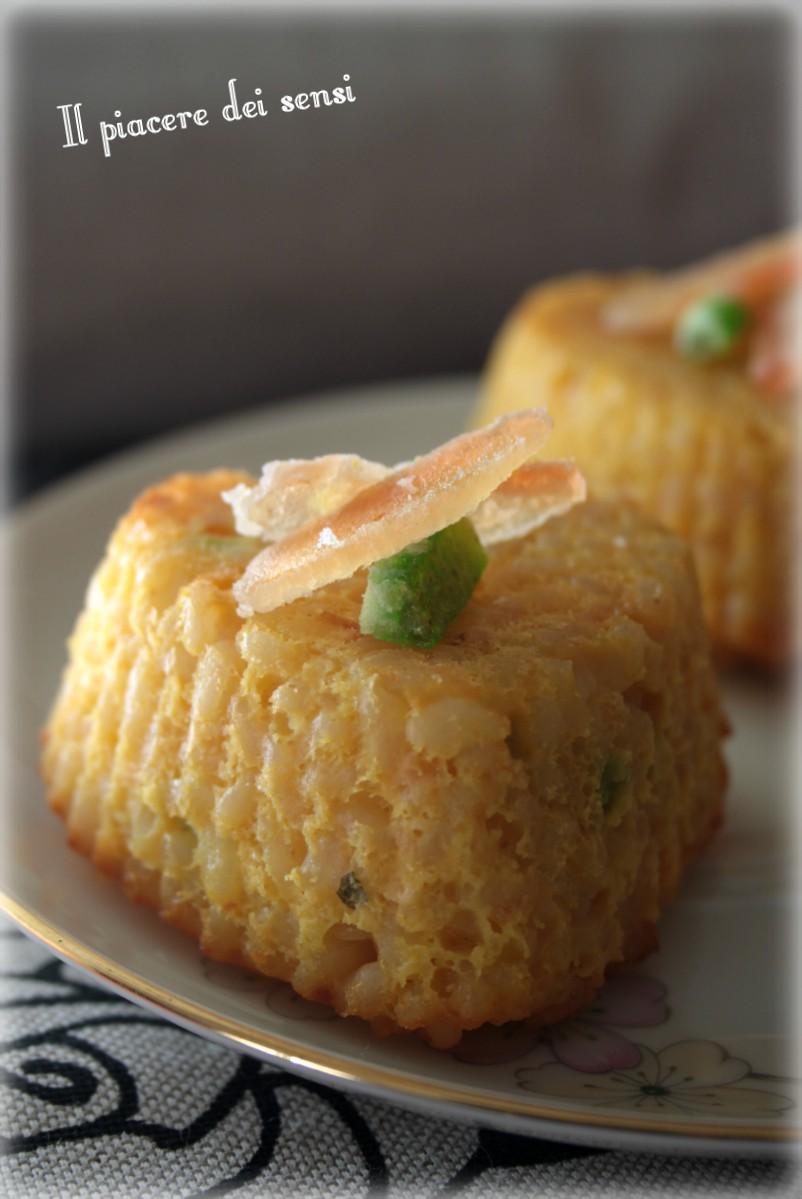 sformatini di riso al cocco
