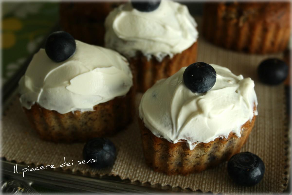 Cupcakes con mirtilli al grano saraceno
