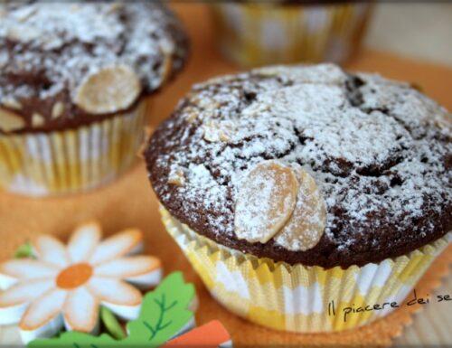 Muffins al cioccolato e mandorle