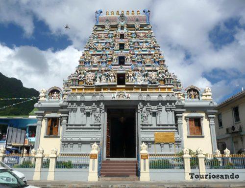 Il tempio indù a Victoria nell'isola di Mahè