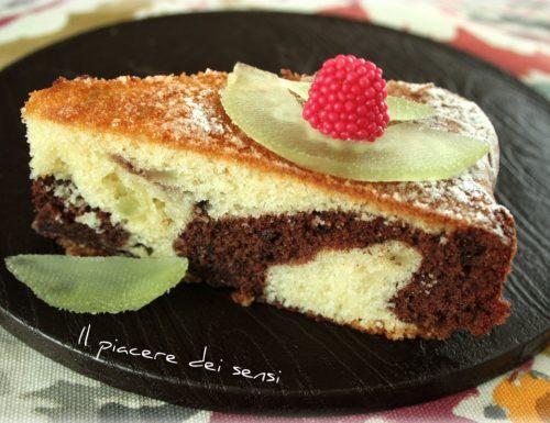 Torta bicolore con cedro candito