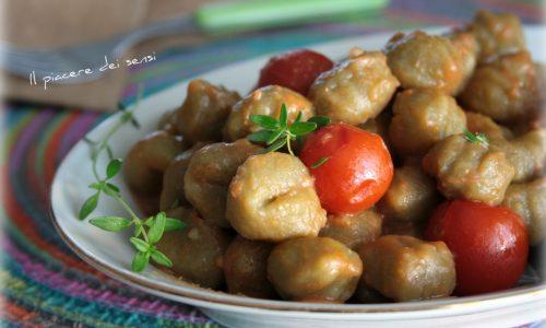 Gnocchi verdi al pomodoro e timo