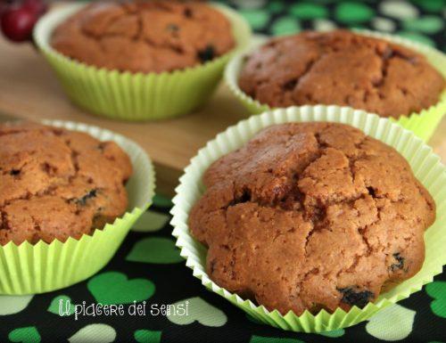 Muffins ai mirtilli e tè nero con farina d'avena (vegan)