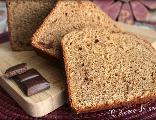 Pane in cassetta con farine miste e cioccolato