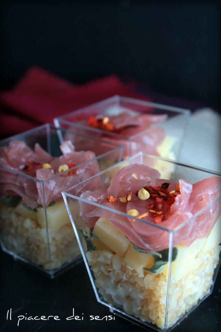 Quinoa con cipolla rossa di Tropea ed Asiago stagionato