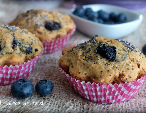 Muffins ai mirtilli senza uova e senza latticini