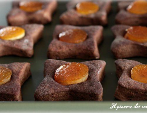 Pasticcini al mascarpone con cacao ed arancia candita