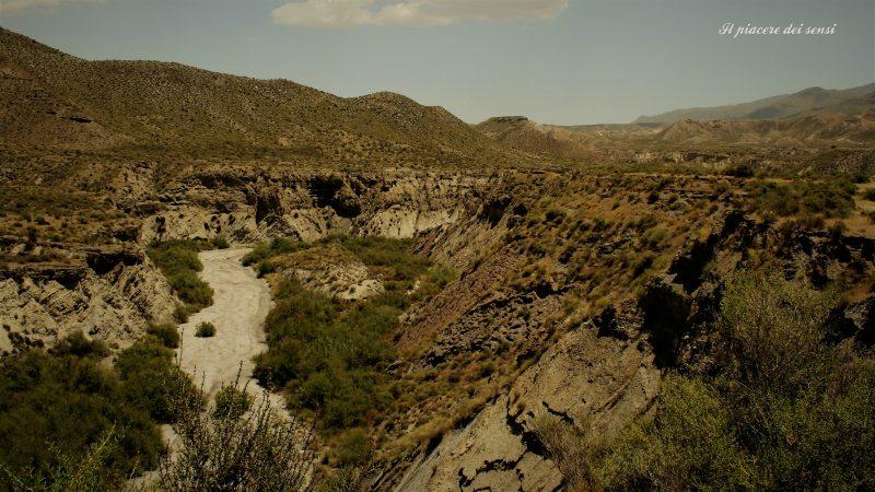 Rio secco a Tabernas dove una volta il west ha vissuto l'epopea