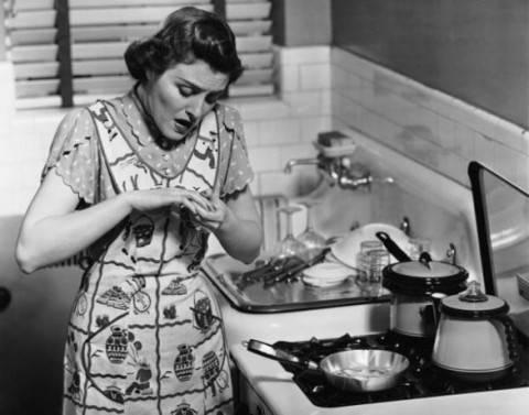 le pentole della salute scottature in cucina
