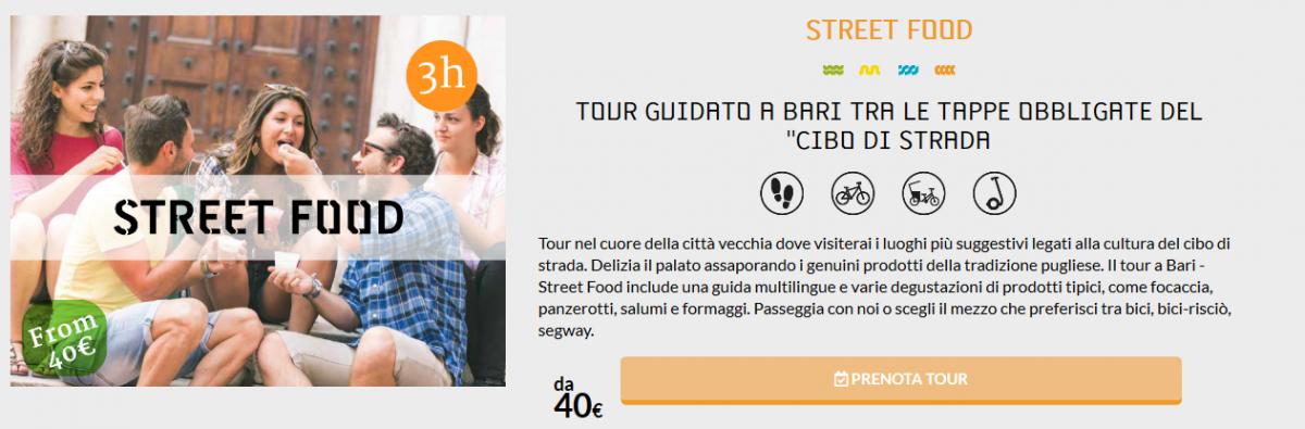 Bari in bici - Tour guidato con Veloservice alla scoperta dello street-food