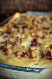Lasagne con speck e crema di ceci