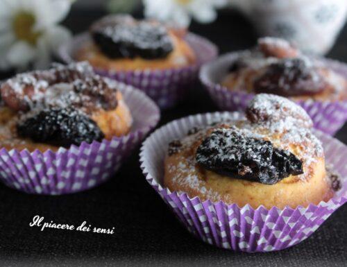 Muffins con prugne e mandorle