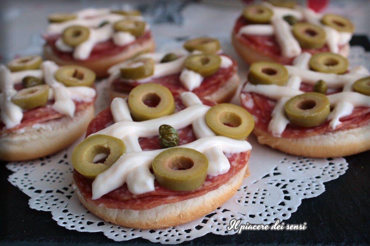 Panparty con salame e maionese